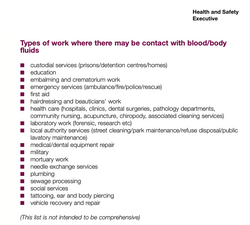 Occupations at risk of Hepatitis B