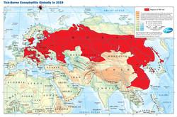 tick bourne encephalitis map 2019