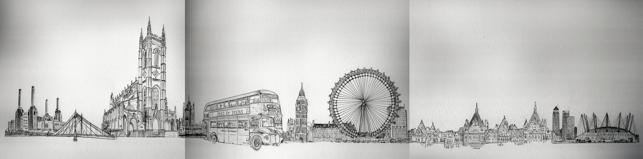 Personalised London Skyline