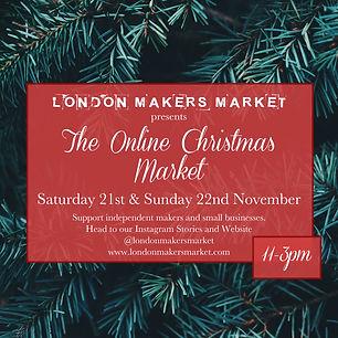 Virtual Christmas Craft Fair. Online Market. London Makers Market.