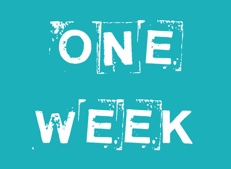 One Week To Go!