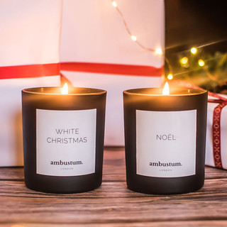 vegan christmas candle
