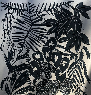 Luiza Holub Print. Botanical Black and White Art Print.
