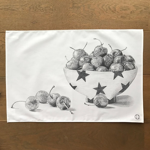 Tea Towel - Bowl of Cherries