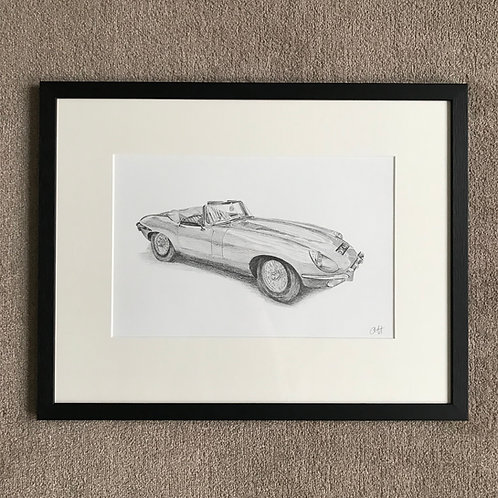 A3 Car Drawing (unframed)