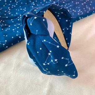 Handmade Hairband. Clairebands. Blue Headband.
