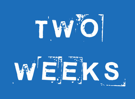 Only two weeks to go!