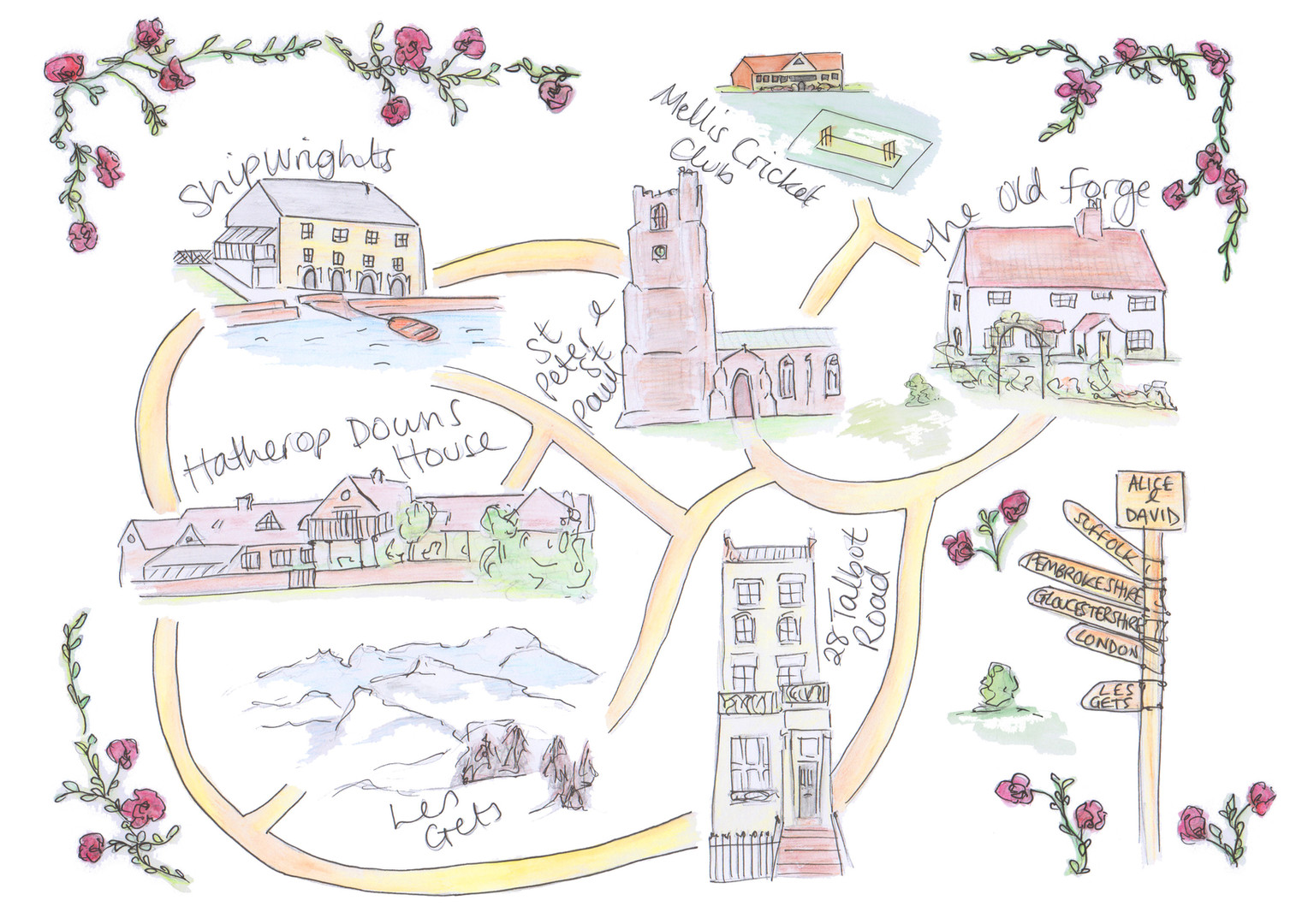 Personalised Wedding Map