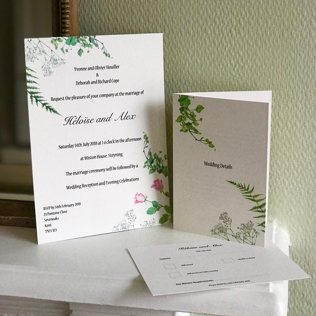 Heloise & Alex Wedding Invitation Set