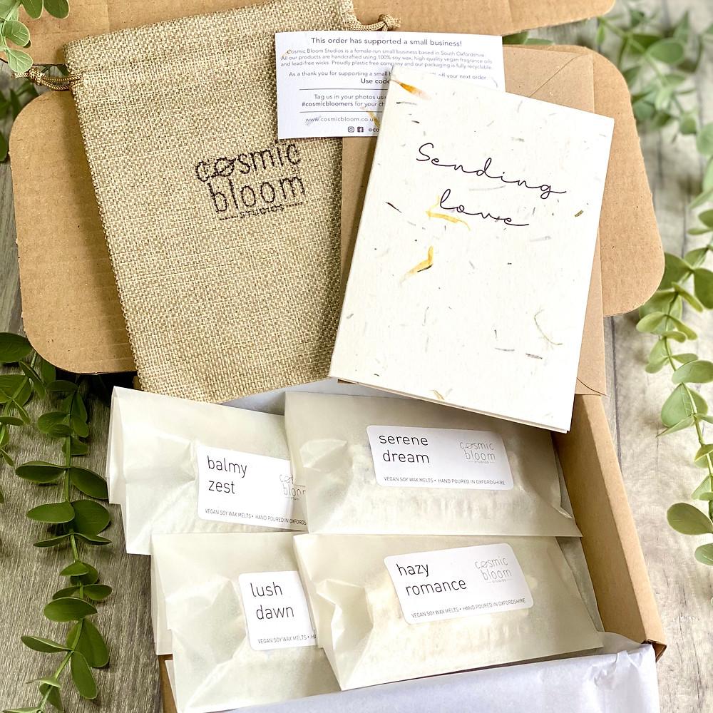 Letterbox Gift. Wax Melt Gift Set. Cosmic Bloom Studios