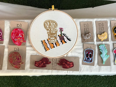 Didi's Designs. Embroidered fashion. London Makers Market.