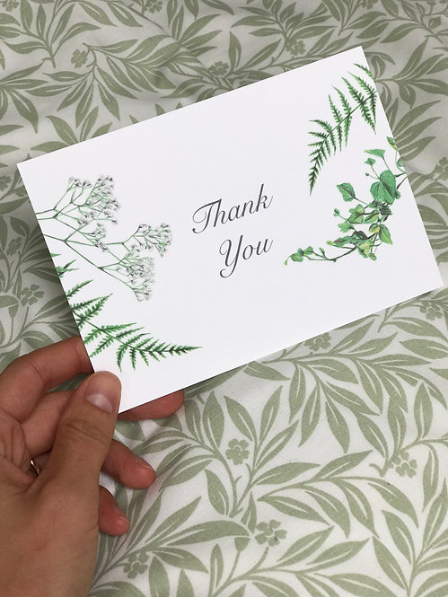 Five Thank You Postcards