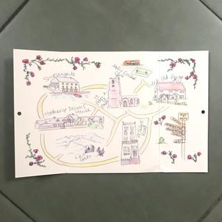 Personalised Wedding Map