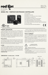 Red Lion PXU Manual for Advanced Single Tank Controllers