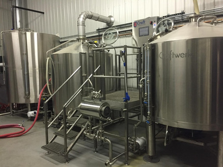 ONE WELL BREWING: FIRST BATCH BREWED ON NEW SYSTEM