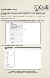 Steps for USB Download