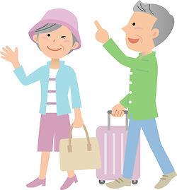 老夫婦の観光