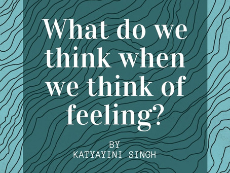 What do we think when we think of feeling?
