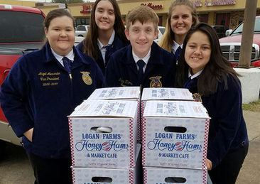 Cy Springs FFA Officers Deliver