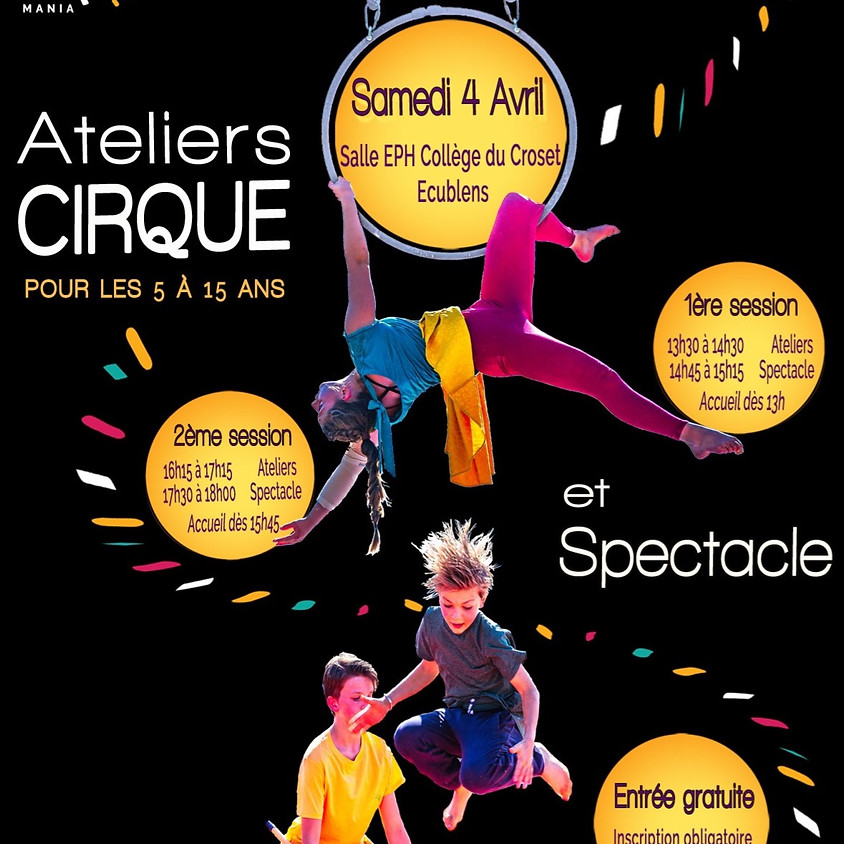 Cirkamania Edition 2020 ! Ateliers cirque et spectacle.