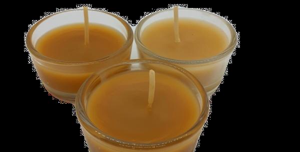 Bienenwachs Teelicht im Glas