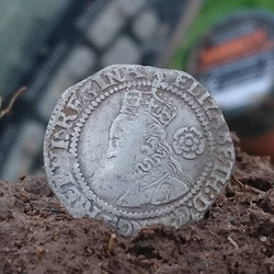 1912 silver pipe mount, and a lovely 1572 Elizabeth 1st