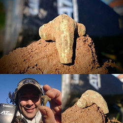 Little Roman fibula! Tiny piece of history right there! Happy! #2000 #years  #roman_#ATPro__garrett_
