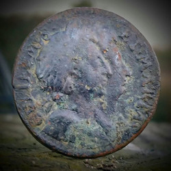 William and Mary 1694 Copper Farthing in fantastic condition! #william #mary #farthing #metaldetecti