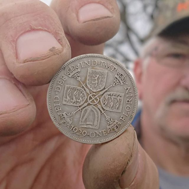 1929 Florin in the hole for Rick! Nice condition too! #two #shilling #george #fifth__brandonrayneice