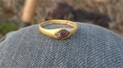 High Medieval Ring with Amethyst