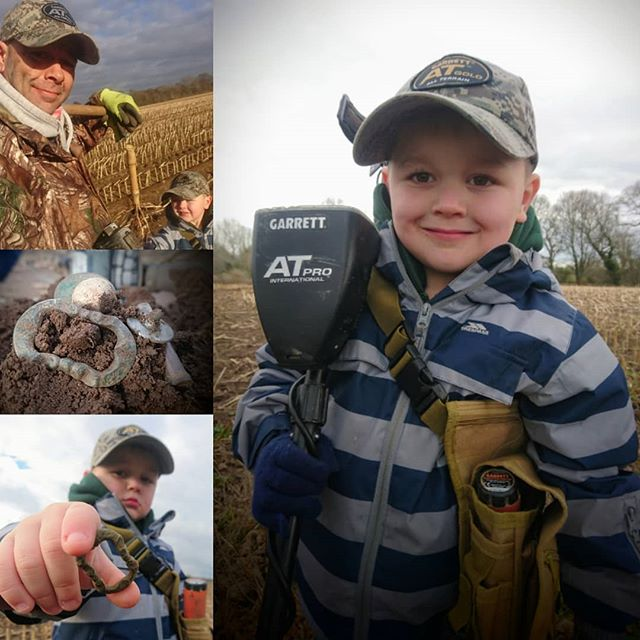 Hunting today with this little Garrett Guy,  my son Charlie! 😍❤_Buttons, musketballs, and a lovely
