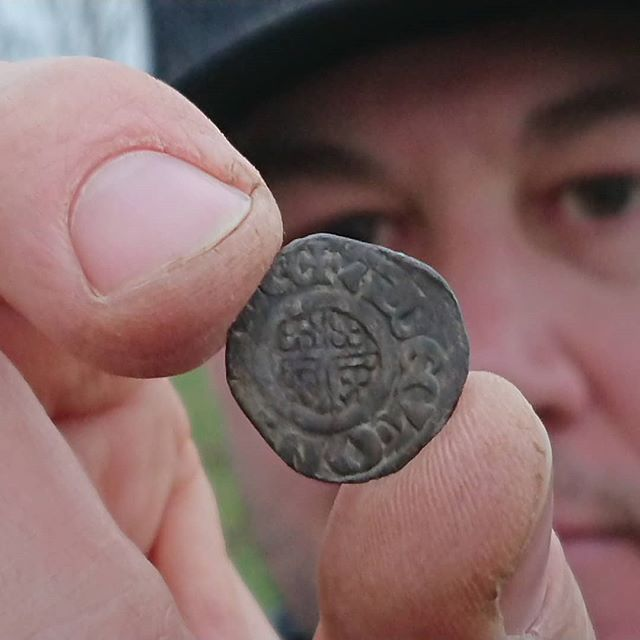 Boooooom! Last hole of the day for _brandonrayneice .. King John short cross hammered silver penny..