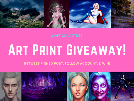 My First Art-Print Giveaway!