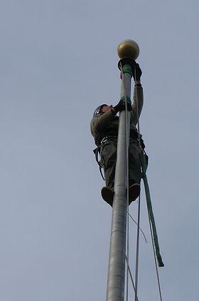 By Steeplejack Peter Mullaly, Eastern Shore Flagpoles