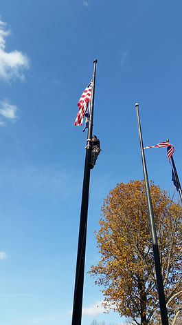 By Steeplejack Peter Mullaly, Eastern Shore Flagpoles