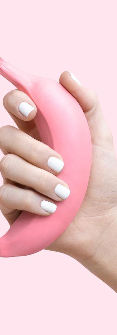Pink Banana, White Nails