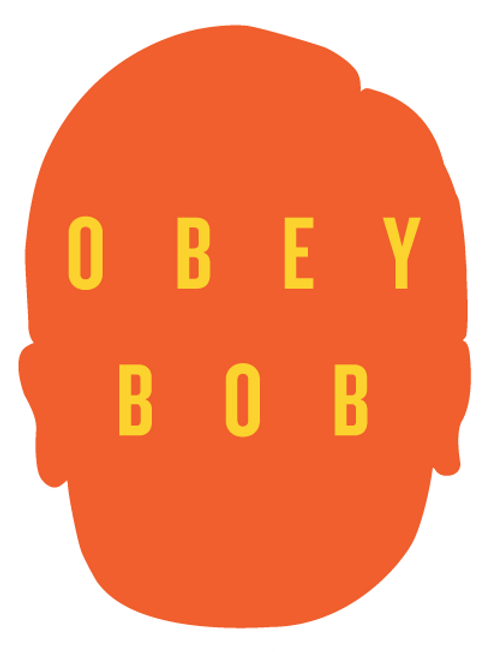 Obey Bob silhouette sticker