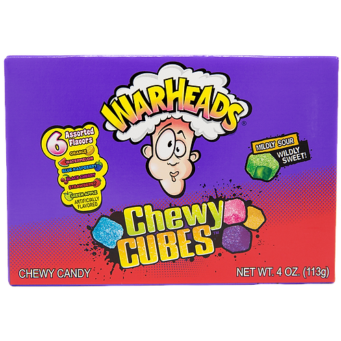 Warheads Chewy Cubes Theatre Box