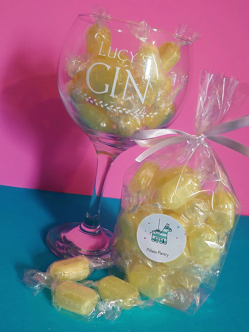 Personalised Gin Glass & Sweets