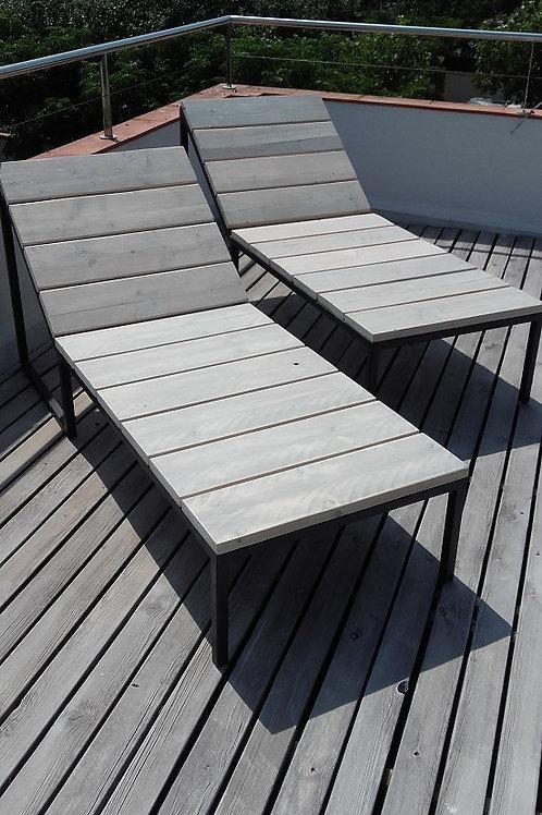 Sun beds metal frame