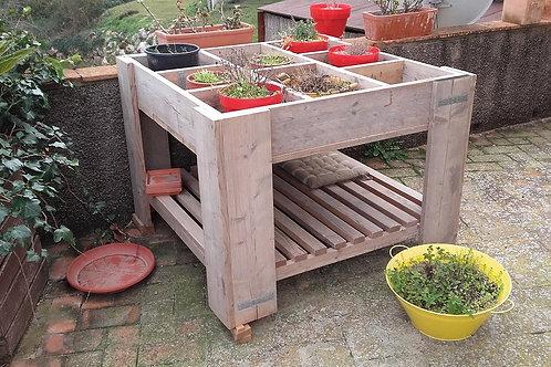 mesa de hierbas