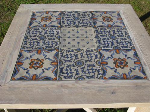 Tafel ellen madera holandes steigerhout in barcelona - Mesas con azulejos ...