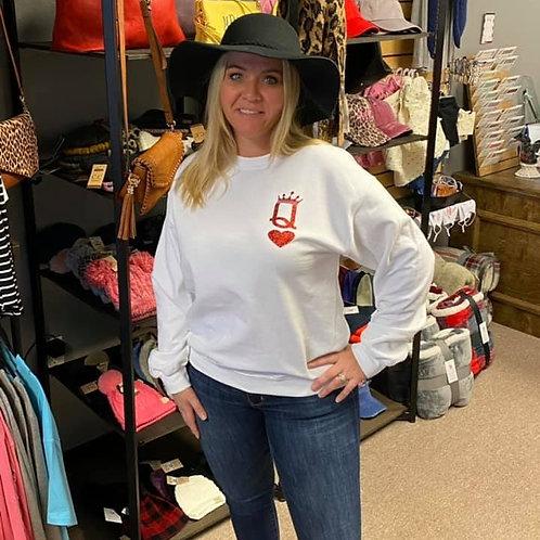 Queen of Hearts Sweatshirt