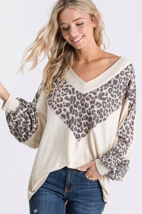 Cream Leopard Long Sleeve