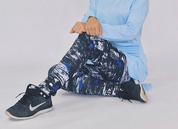Abstract Blue Leggings