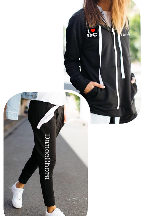 DC Tracksuit with Zip-front Top