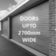 77mm DOORS UPTO 2700mm WIDE
