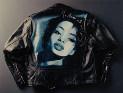 WITH MY LOVE SADE x  Oil on leather