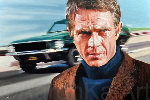"""SPEEDING BULLITT"" 24 x 36 Canvas Giclee'."
