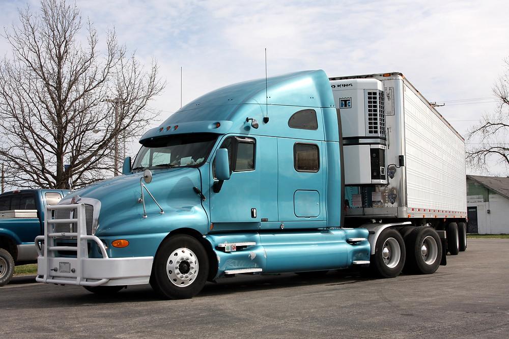 Semi-truck in Los Angeles CA